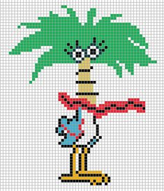 Coco - Foster's Home for Imaginary Friends perler bead pattern