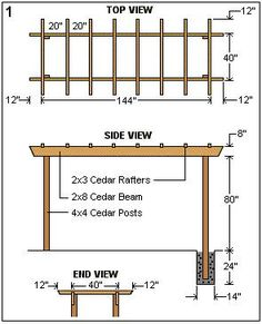 The pergola kits are the easiest and quickest way to build a garden pergola. There are lots of do it yourself pergola kits available to you so that anyone could easily put them together to construct a new structure at their backyard. Diy Pergola, Gazebo, Building A Pergola, Small Pergola, Pergola Canopy, Pergola Attached To House, Metal Pergola, Deck With Pergola, Ideas