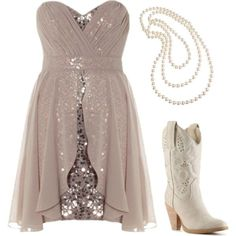 Get rid of the boots, throw in a pair of nude heels and I call it an amazing New Years or Semi-Formal Dress