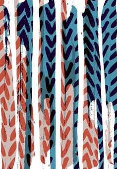 Striped Chevrons Limited Edition Print by SarahBagshawPattern