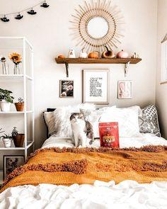 Home Interior Bedroom .Home Interior Bedroom Fall Bedroom Decor, Room Ideas Bedroom, Small Room Bedroom, Bedroom Wall, Home Decor, Master Bedroom, Bedroom Inspo, Eclectic Bedroom Decor, Bright Bedroom Ideas