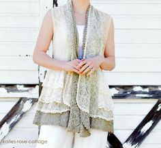 Did you know that Katie's Rose Cottage Designs now sells awesome, ruffly and lacey clothing? They do! Just look at this Lace Ruffle Vest - LOVE IT! Go look - lots of lovelies to see and shop!  I ordered one today....can't wait to wear it!