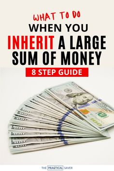 We all dream of suddenly getting a large sum of money, I mean who hasn't asked the question, 'what would you do if you won the lottery.' So what happens if you actually do?   The Practical Saver   Learn 8 Simple steps you should consider financially before spending that inheritance. Learn smart money moves with your finances and especially large amounts to build wealth and live better, not broke. #inheritiance #moneytips #wealth Financial Literacy, Financial Goals, Financial Planning, Saving Tips, Saving Money, Get Educated, Money Today, Investing Money, Budgeting Tips