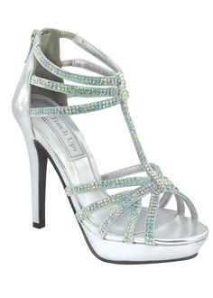 Touch Ups Toni Silver Strappy High Heels - http://www.rissyroos.com/touch-ups-toni-546.html
