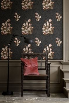 #Lush #blooms are taking on a darker #atmosphere, #blossoming from black-as-night backgrounds in a riot of #vintage-inspired greys, deep reds, and creams in the #DutchMasters collection