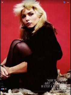 Blondie Debbie Harry, Female Rock Stars, Chris Stein, Nostalgia, Estilo Rock, Famous Women, Iconic Women, Famous People, Actresses