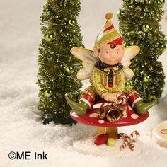 Elf on Mushroom Figural from The Holiday Barn