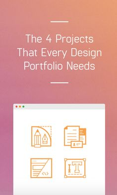 On the Creative Market Blog - The 4 Projects That Every Design Portfolio Needs