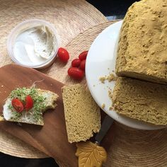 VEGAN Chickpea Bread - Gluten & Oil Free Loaf