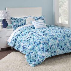 Seventeen Cerulean Floral Comforter Set, Blue