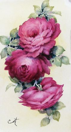 #3 Tiny rose painting - watercolor | ARTchat - Porcelain Art Plus (formerly Chatty Teachers & Artists)