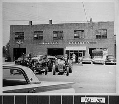 Carnesville, ca. 1962. Wansley Brothers Ford dealership. Possibly the oldest continuously operating business under one name in the city. This business is located on Lavonia Street. Several automobiles and pieces of farm equipment can be seen in the foreground. Digital Library of Georgia. Georgia Archives.