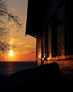 The clubhouse at Victoria Beach, Manitoba, Canada. #sunsets #Canada #travel