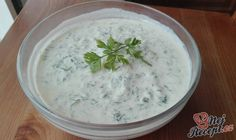Tzatziki omáčka k salátu nebo masu Tzatziki, Dressings, Dips, Mayonnaise, Cheeseburger Chowder, Food And Drink, Soup, Snacks, Meals