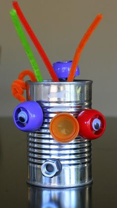 Mix and Match Recycled Robots from Fun at Home with Kids