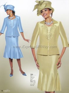 Terramina 7333 Church Suit  -- in black or red or pink or navy or .....