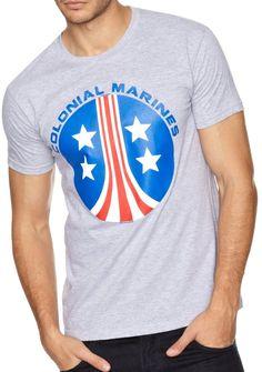 T-Shirt Alien Colonial Marines Gris Symbole - 26,99€ - #Logostore