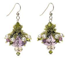 free beaded bell cap earring pattern - Bing Images
