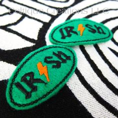 Irish Rock Hair Clips Handmade Hard Rock Inspired Acessories Clippies | celtique_creations - Accessories on ArtFire