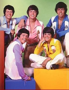 The Osmond Brothers Back in the Day...only Donny's not wearing the purple....I so lived my childhood wrapped up in their songs....