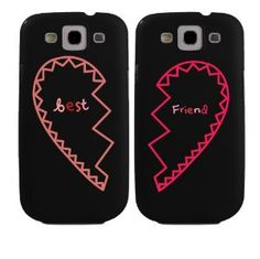 BFF Phone Covers Best Friends Matching Hearts Phone Cases for Galaxy S3 Gift for Best Friends