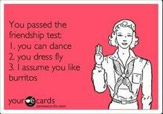 Friendship test
