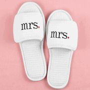 Cute slippers for the new Mrs.!