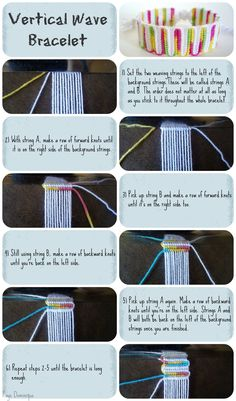 Vertical Wave Bracelet Tutorial by ~chibi-shishi on deviantART Source confirmed 4/1/14