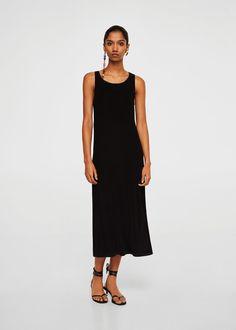 Long textured dress | MANGO