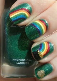 st. patrick's day nail designs - - Yahoo Image Search Results