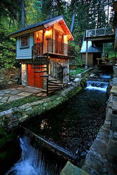 Storybook Stone Cottage by stewartmountainlodging, via Flickr