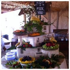Shabby chic fruit scape