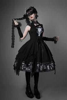 Foxtrot -The Tomb of Gabriel- Vintage Gothic Lolita JSK + Corset Set (shipping date: in late July),Lolita Dresses, Style Lolita, Lolita Mode, Gothic Lolita Fashion, Gothic Outfits, Goth Style, Lolita Cosplay, Alternative Mode, Alternative Fashion, Harajuku Fashion