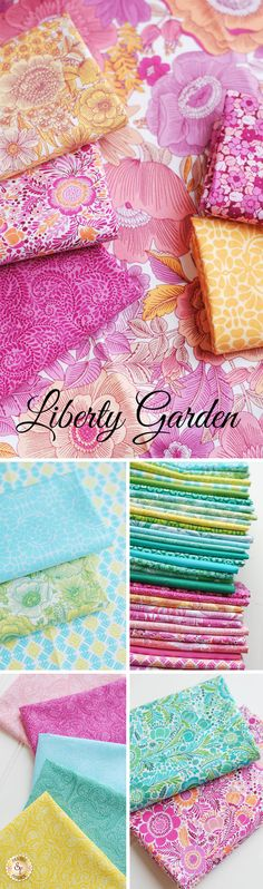Liberty Garden by Benartex is a fresh floral fabric collection available at Shabby Fabrics!