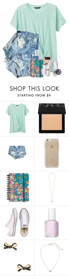 """Went for a five minute bike ride today... feelin' fit"" by erinlmarkel ❤ liked on Polyvore featuring Banana Republic, NARS Cosmetics, Sakroots, Vanities, Converse, Essie, Kate Spade and Gap"