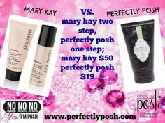 another thing i like about perfectly posh is our prices and quality products!!!!! this compares ours to mary kay! everything at posh is $25 and under and we use NO fillers!!! what a great deal!! contact me for more information!!! (719) 439-0152 or like my fb page! https://www.facebook.com/perfectlyposhthegirlcave