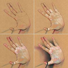 ท่าทางในการใช้พลัง – Hobbies paining body for kids and adult Hand Fotografie, Hand Kunst, Art Sketches, Art Drawings, Poses References, Toned Paper, Abstract Painters, Color Pencil Art, Anatomy Art