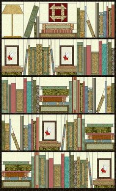 bookshelf quilt pattern - Google Search: