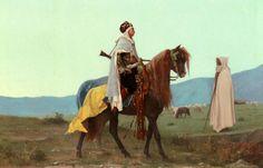 Um cavaleiro árabe, 1865 Gustave Boulanger (França, 1824-1888) óleo sobre tela Coleção Particular