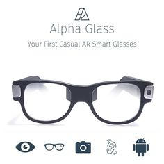 The Alpha Labs is raising funds for Alpha Glass: First Casual AR Smartglasses for Everyday Life on Kickstarter! Developer Kit for Alpha Glass are on-lens display AR smartglasses designed as casual pair of glasses. Future Gadgets, Cool Gadgets, Spy Glasses, Smart Glass, Happy Eyes, Hulk Art, App Ui Design, Cool Tech, Technology Gadgets