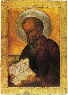 acheiropoietos:  Icon of St. John the Theologian12th century, Monastery of St. John, Patmos, Greece
