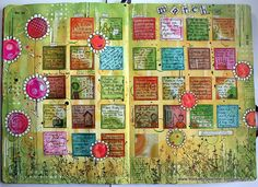 Art Journal - March finished! by thekathrynwheel, via Flickr