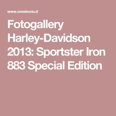 Fotogallery Harley-Davidson 2013: Sportster Iron 883 Special Edition