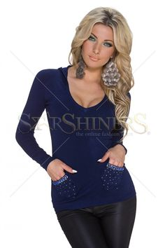 Provocative Trend DarkBlue Sweater