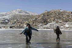 Skating outside Kabul, Afghanistan, December 2013 | The Atlantic