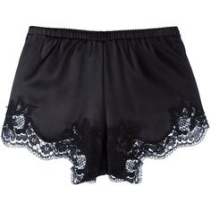 Dolce & Gabbana Underwear lace trim shorts ($229) ❤ liked on Polyvore featuring intimates, panties, black, underwear lingerie, dolce gabbana lingerie and floral lingerie