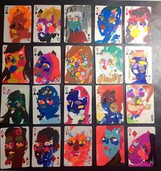 Playing Cards Art, Wei Wei, Painting, Painting Art, Paintings, Painted Canvas, Drawings