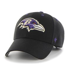 uk availability 869ed 8ff2a Baltimore Ravens Audible MVP Black 47 Brand Adjustable Hat