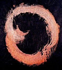 clinging to the bricks/the cardinal/I surprised (haiku and enso by susan)