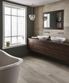 Explore our inspiration hub packed with home improvement ideas. Get inspired with customer home tours showcasing bathroom, wetroom & kitchen design ideas. Use our tile finder and order samples today! Stone Bathroom, Bathroom Spa, Small Bathroom, Bathroom Ideas, Family Bathroom, Modern Bathrooms, Kitchen Tile Inspiration, Topps Tiles, Underfloor Heating